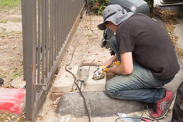 repairing slab for Gate Opener